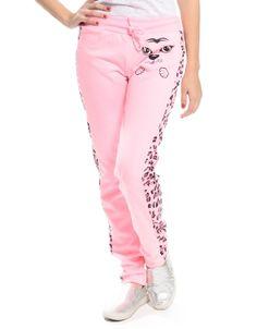 Leopard Print Lounge Pants Pink