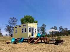 A 153 square feet tiny home used to house guests in Ramona, California.