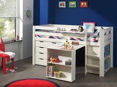 Niskie łóżko piętrowe dla dzieci Pino z biurkiem http://dladziecka-net.pl/