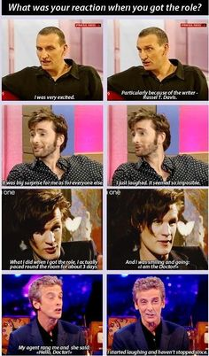Getting the role of the Doctor: Christopher Eccleston David Tennant Matt Smith Peter Capaldi