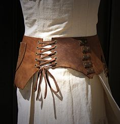Viking Pirate Medieval Leather Waist or Hip Belt by MisfitsofTime, $135.00