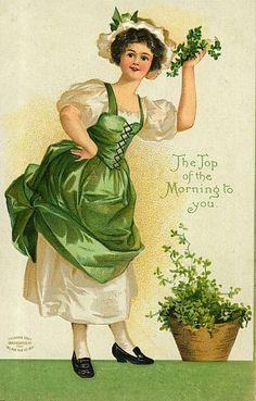 St Patricks Day Vintage Postcards | Wordless Wednesday