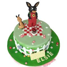 Bing & Flop cake is now available on our website. - Bing Flop Cbeebies - http://www.kimboscakes.co.uk/bing-flop-cbeebies-birthday-cake/