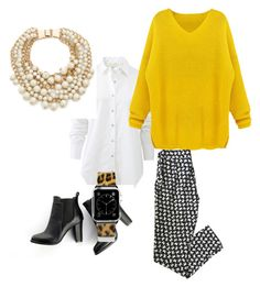 """""""Mustard"""" by radthinker on Polyvore featuring rag & bone, RED Valentino, Kate Spade, SWEET MANGO and Casetify"""