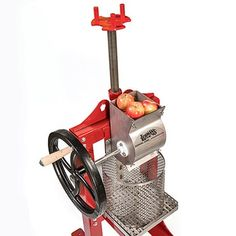 Lehman's Stainless Steel Cider Press, Fruit Presses - Lehman's Making Apple Cider, Cider Press, All Stainless Steel, Homemade Tools, Beer Brewing, Wooden Handles, Cast Iron, Traditional, Kitchen Accessories