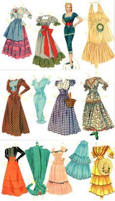Lillemoe Vintage: Cut PD, Shirley Jones Oklahoma http://www.pinterest.com/merrytho/paper-dolls/