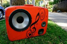 Vintage Suitcase Stereo BoomBox. 200 Watts of pure win. $440.00