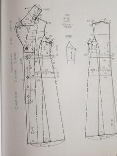 원단/짜투리/바느질/미싱/아이디어/퀼트/소잉/ | BAND Girl Dress Patterns, Skirt Patterns Sewing, Coat Patterns, Clothing Patterns, Blouse Patterns, Sewing Blouses, Japanese Sewing, Collor, Brocade Fabric