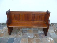 A Victorian Pitch Pine Bench