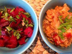 Patrícia is cooking.: Seitan encarnado com açorda de tomate {Vegan}