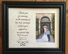 Personalized Wedding Frames by WeddingFramesByDiane on Etsy Wedding Gifts For Parents, On Your Wedding Day, Wedding Bride, Father Daughter Dance, Grandparent Gifts, Wedding Frames, Personalized Wedding Gifts, Bride Gifts, Mother Gifts