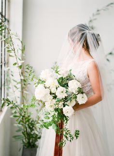 Photography : Sorella Muse | Wedding Dress : Lace and Bustle Bridal | Floral Design : Bowerbird Atelier | Event Planning : Linen & Lilac  Read More on SMP: http://www.stylemepretty.com/2017/01/31/the-blueprint-for-using-pantones-color-of-the-year-in-your-wedding/