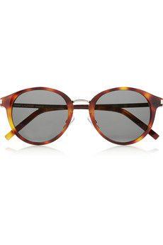 1dce75c995f3d Saint Laurent - Round-frame acetate and metal sunglasses. Gafas De Sol RostrosClienteGafas ...