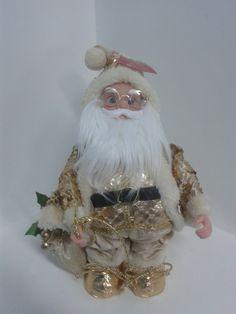 Papa Noel decorativo dorado musical. #DecoracionesNavidad2013 #DecoracionNavidadPereira