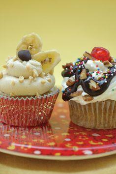 Vegan Banana Split Cupcakes Recipe