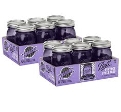 Ball Jar Ball Heritage Collection Pint Jars with Lids and Bands, Purple (Pint-Set of 12, Purple) >>> More info could be found at the image url. (This is an Amazon affiliate link)