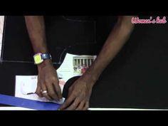 Double Katori Blouse - 2. Marking on the cloth - YouTube