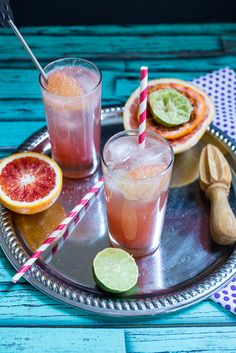 Blood Orange Bourbon Paloma  - Girl In The LIttle Red Kitchen
