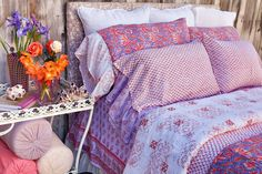 Kerry Cassill Duvet Cover - Pink Peacock – Shoppe by Amber Interiors