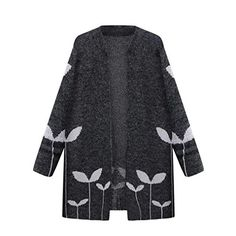 New for 2017 Waterfall Knitted Long Sleeve Sweater Casual Loose Knitwear Cardigan Jacket Outwear Long Knit Cardigan, Cardigan Sweaters For Women, Sweater Coats, Winter Sweaters, Cardigans For Women, Long Sleeve Sweater, Jumper, Knitting Sweaters, Oversized Cardigan