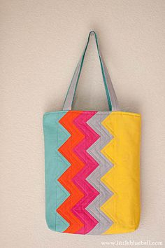 Made using a pattern from my book 'Zakka Style', ZigZag Tote by Little Bluebell, via Flickr
