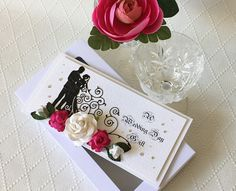 Rose wedding gift wallet cash wallet card with presentation