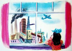 A Year in the City - window girl    A Year in the City, by Tibor Gergely, Simon & Schuster, 1948.