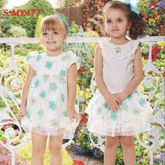 Cute printed green flower pattern kids dresses chiffon summer dress    contact:moon01@moonyao.com   #KidsClothing #GirlsClothing #BabyClothing #KidsWear  #Pants #Trousers