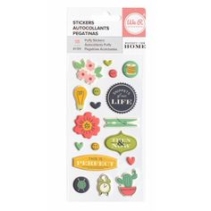 Perfect Home Puffy Stickers