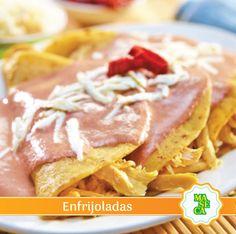 Entrá al enlace y prepará esta práctica receta: Enfrijoladas. #Receta #TodoConMaseca #Maseca #Salty