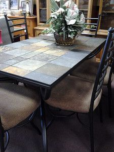 slate tile table | coffee table ideas | pinterest | tile tables