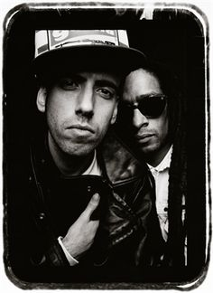 Mick Jones and Don Letts