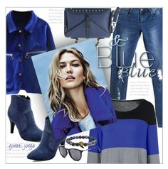 """""""Karlie Kloss -  Blue Style"""" by goreti ❤ liked on Polyvore"""