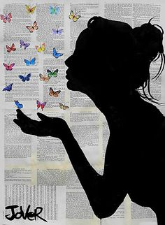 View LOUI JOVER's Artwork on Saatchi Art. Find art for sale at great prices from artists including Paintings, Photography, Sculpture, and Prints by Top Emerging Artists like LOUI JOVER. Butterfly Kisses, Butterflies, Butterfly Gifts, Red Butterfly, Newspaper Art, Newspaper Painting, Newspaper Background, Kiss Art, Silhouette Art