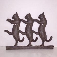 Cat Hook made of Cast Iron - 3 Hooks Cast Iron, It Cast, Bookends, Hooks, Vintage Inspired, Nostalgia, Cats, Inspiration, Home Decor
