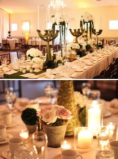 the close up image of the table setting would look cool in a rustic venue