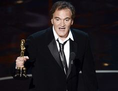 """Quentin Tarantino wins Best Original Screenplay for Django Unchained and finished his speech with a wacky """"Peace Out!"""""""