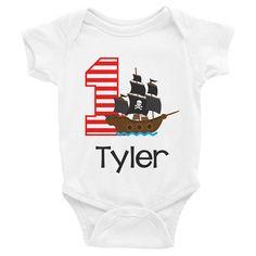 $16 Pirate Birthday Shirt Onesie  Pirate Ship Birthday Shirt