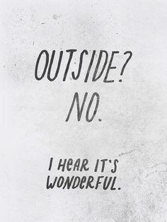 Outside? poster