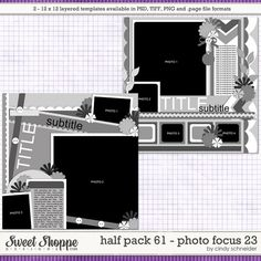 Cindy's Layered Templates - Half Pack Photo Focus 23 by Cindy Schneider