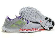 sports shoes 7ff8a 2bf0f Womens  Nike  Free  Run 3 Wolf Grey Reflect Silver Pure Platinum Shoes