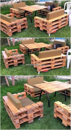 A beautiful and artistic simple garden furniture design has been crafted here with the pleasant working of the mode effects. This whole crafting of th., Wonderful Creations Made with Recycled Pallets Garden Furniture Design, Pallet Garden Furniture, Pallets Garden, Furniture Decor, Furniture Vintage, Furniture Projects, Palette Furniture, Painted Furniture, Furniture Refinishing
