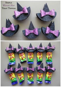 """Simple and easy Halloween treat toppers {Click image for link to video tutorial}…Stampin' Up! Simple and Easy Easter Bunny Punch Art Tags - Great for Decorating Bags of Easter EggsSearch Results for """"halloween"""" – Burkee Bedding Inn Halloween Tags, Moldes Halloween, Halloween Paper Crafts, Adornos Halloween, Manualidades Halloween, Halloween Favors, Holidays Halloween, Happy Halloween, Halloween Decorations"""