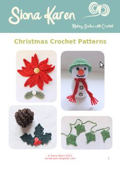 A Natural Christmas Crochet Pattern ebook Crochet Christmas Ornaments, Christmas Crochet Patterns, Christmas Knitting, Diy Crochet, Crochet Crafts, Crochet Projects, Crochet Winter, Holiday Crochet, Christmas Projects