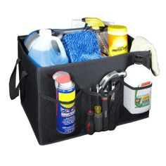 Organize your #trunk with this Jumbo trunk organizer hold everything in place and will not move around because it has a Velcro lining #bottom which wont all the o...