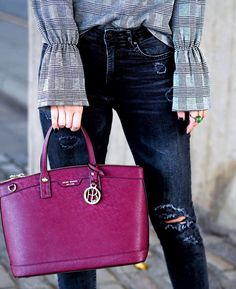 Can't stop wearing my new @henribendel Burgundy Satchel! The size is so perfect and the colour is just  What would you wear it with this Autumn / Winter? http://liketk.it/2pvMc @liketoknow.it #liketkit || #BendelGirl #BagPorn #StyleBlogger #ootd #checks #giftedbyhb #streetstyle