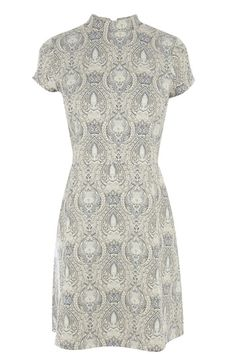 Paisley Jacquard A-Line Dress
