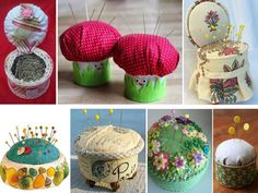 tuna cans for pins Tin Can Crafts, Metal Crafts, Easy Diy Crafts, Diy Crafts To Sell, Pots, Box Frames, Pin Cushions, Entryway Decor, Tuna