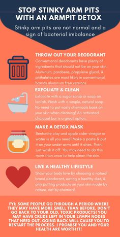 Have Stinky Pits? Read This – Making It Up As We Go Tips on how to get rid of your smelly armpits using an armpit detox Oily Skin Care, Skin Care Regimen, Skin Care Tips, Smelly Underarms, Detox Kit, Body Hacks, Healthy Skin, Stay Healthy, Healthy Living