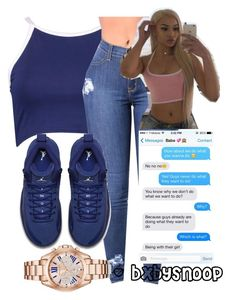 """""""Untitled #406"""" by bxbysnoop ❤ liked on Polyvore featuring Boohoo, NIKE, adidas Originals and Michael Kors"""